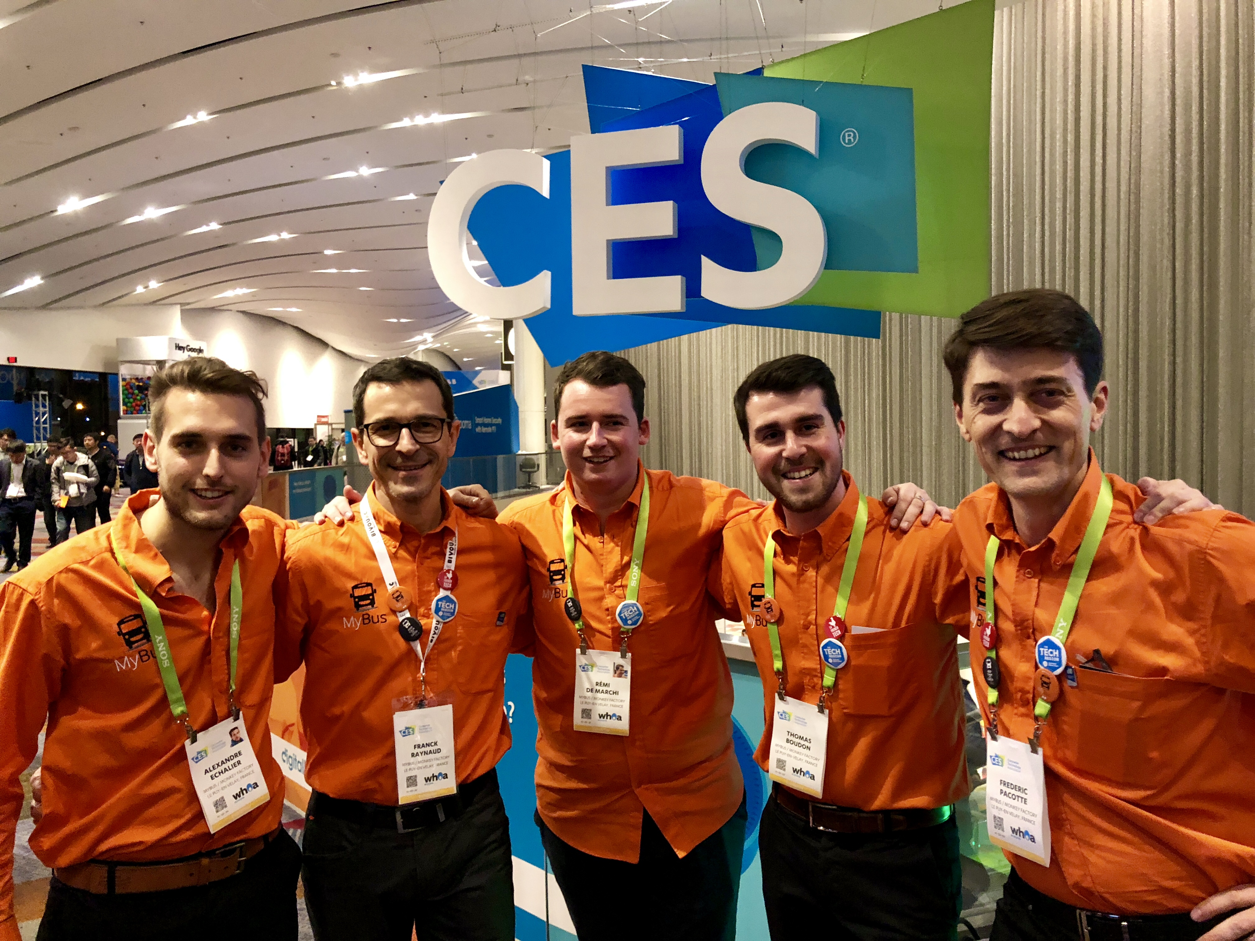 MyBus team CES 2018 Las Vegas